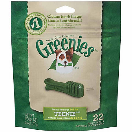 Greenies Canine Dental Chews, Teenie, Pack of 22
