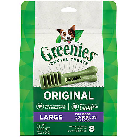 Greenies Canine Dental Chews, Large, Pack of 8