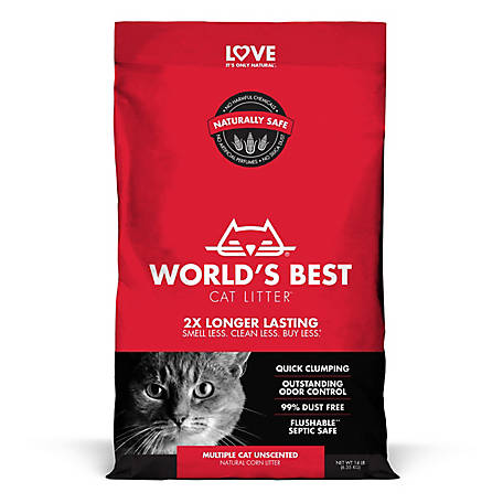 World's Best Cat Litter Multiple Cat Clumping Formula, 14 lb.