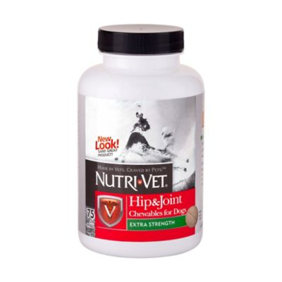 Buy Nutri-Vet Hip & Joint Extra Strength Chewables for Dogs; 75 Count Online