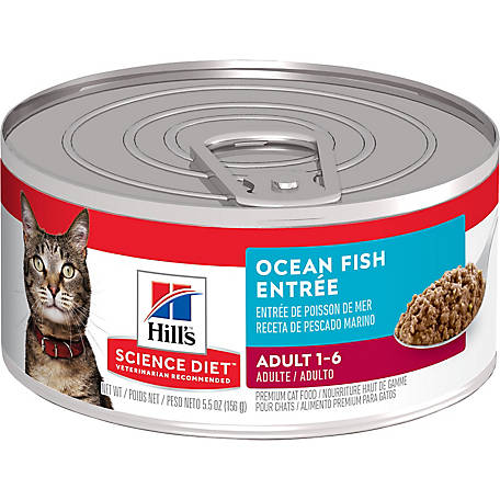 Hill's Science Diet Adult Ocean Fish Entree Canned Cat Food, 5.5 oz.