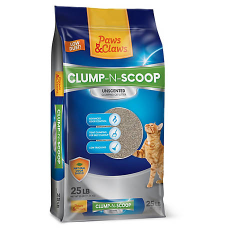 Paws & Claws Scoopable Cat Litter, 25 lb., 2452342