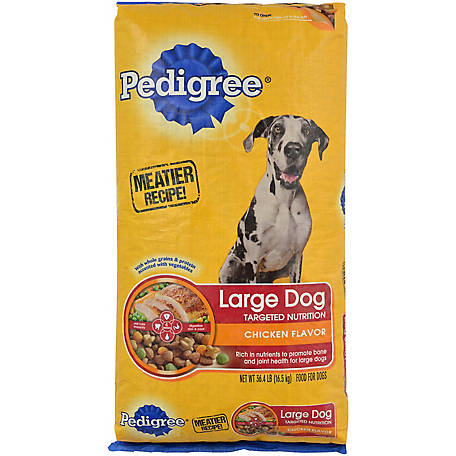 Pedigree For Big Dogs Adult Complete Nutrition Roasted Chicken, Rice & Vegetable Dry Dog Food 36.4 lb. Bag