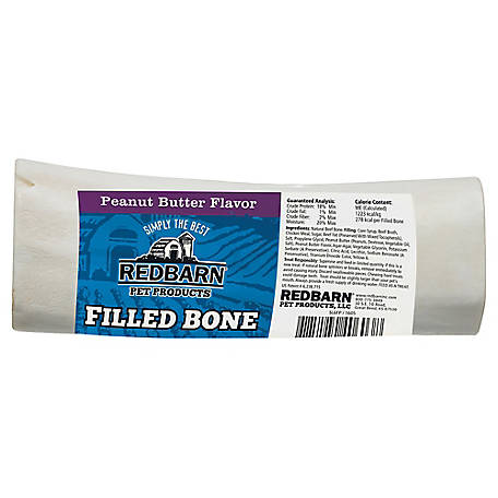 Redbarn Filled Peanut Butter Dog Bone, Large, 5 oz.