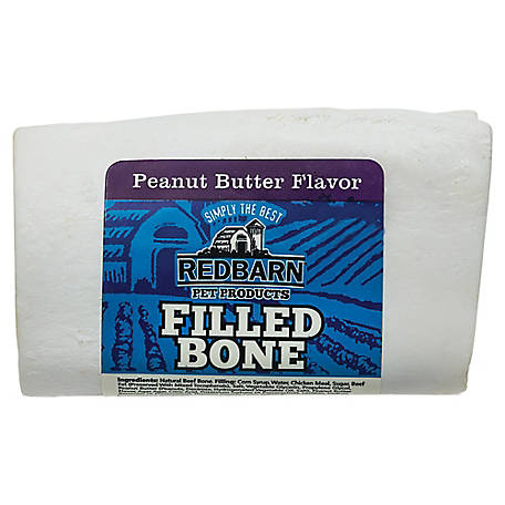 Redbarn Small Filled Bone, Peanut Butter