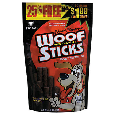Pro Pac Woof'Em Down Sticks, 7.2 oz.