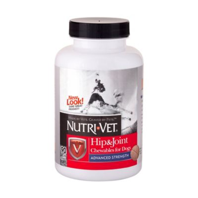 Buy Nutri-Vet Hip & Joint Advanced Strength Chewables for Dogs; 90 Count Online