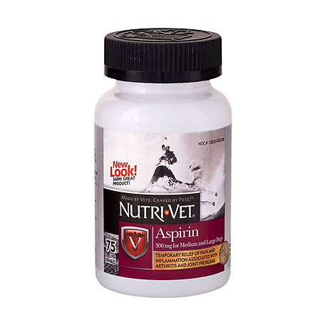 Nutri-Vet Aspirin for Medium and Large Dogs, 75 Count, 1001026