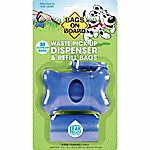 Bags On Board Blue Bone Dispenser with 30 Refill Bags, 3230910401