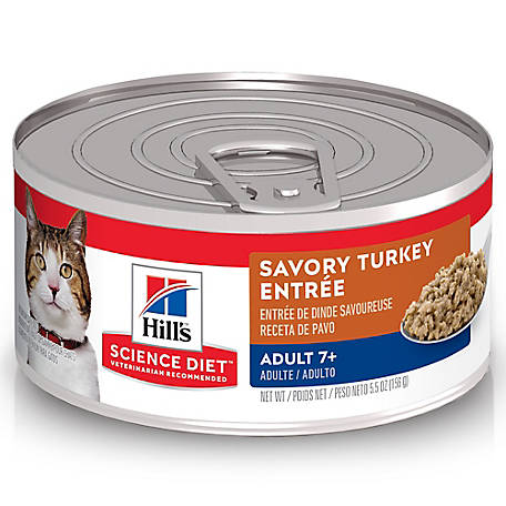 Hill's Science Diet Adult 7+ Savory Turkey Entree Canned Cat Food, 5.5oz