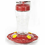 Homestead 12 oz. Etched Glass Hummingbird Feeder