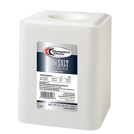 Champion's Choice White Salt Block, 50 lb.