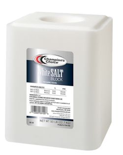 Shop Champion's Choice White Salt Block, 50 lb. at Tractor Supply Co.