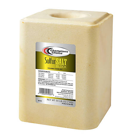 Champion's Choice Sulfur Salt Block, 50 lb.