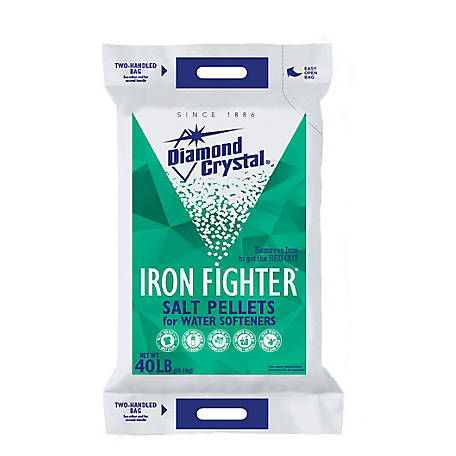 Diamond Crystal Iron Fighter Salt Pellets, 40 lb. Bag