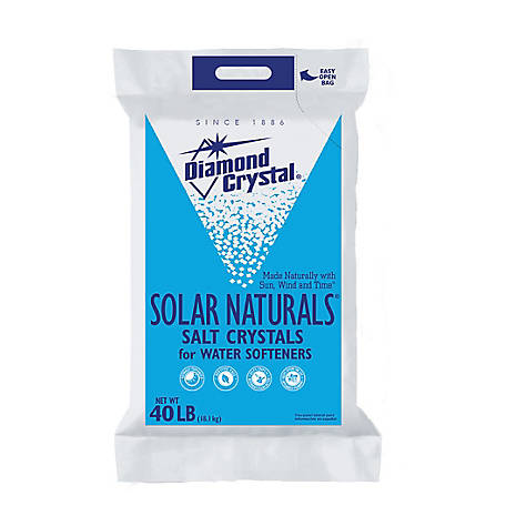 Diamond Crystal Solar Naturals Salt Crystals, 40 lb. Bag
