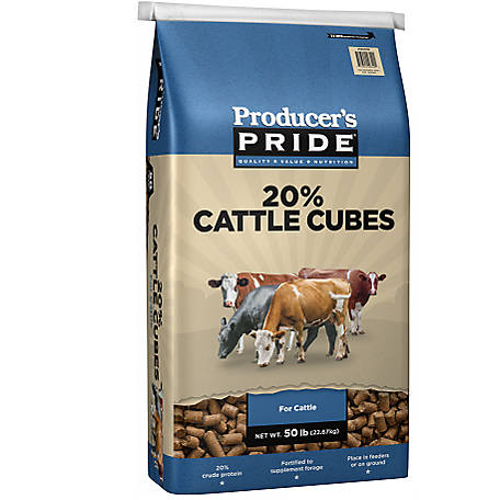 Producer's Pride 20% Cattle Cube, 50 lb.