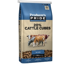 Shop Producer's Pride 20% All Natural Cattle Cube, 50 lb. at Tractor Supply Co.