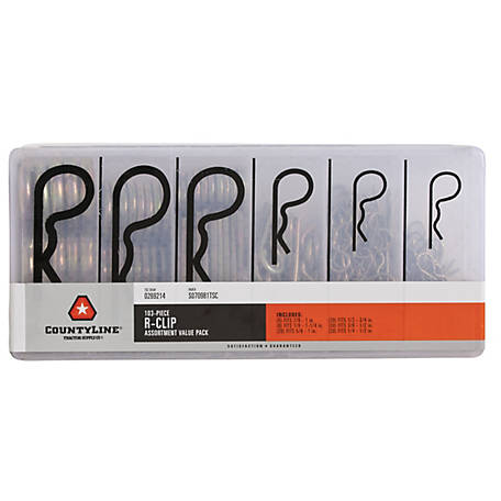 CountyLine R-Clip Assortment, Pack of 103, S070981TSC