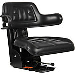 Black Talon Universal Tractor Seat with Adjustable Suspension, Black