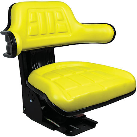 Black Talon Universal Tractor Seat with Adjustable Suspension, Yellow, 51000-YE