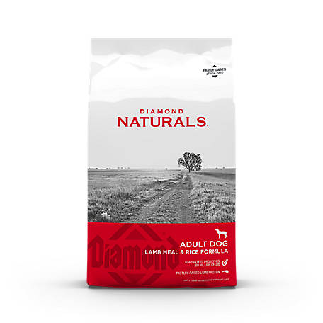 Diamond Naturals Lamb Meal & Rice Formula Adult Dog Food, 6 lb. Bag.