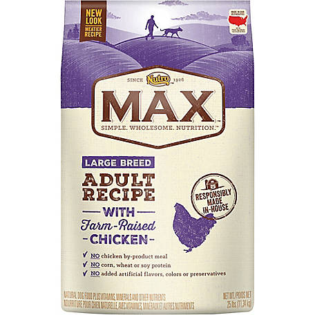 Nutro Max Large Breed Adult Dog Food, 25 lb. Bag
