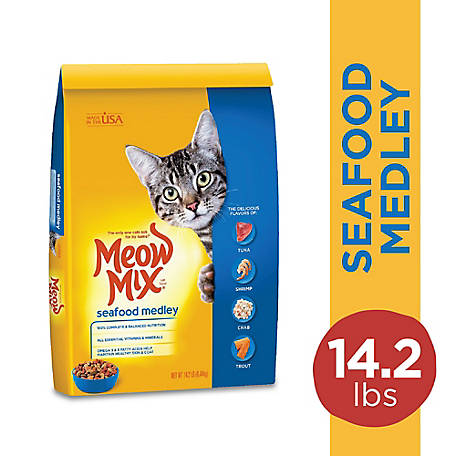 Meow Mix Seafood Medley Dry Cat Food, 14.2 lb.