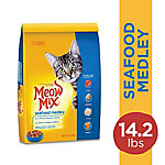 Meow Mix Seafood Medley Dry Cat Food, 14.2 lb. Bag