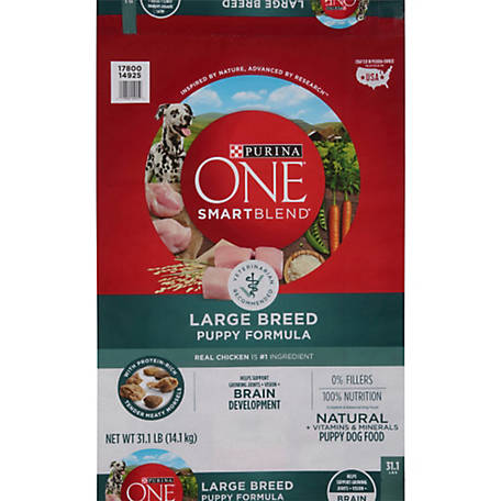Purina ONE Natural Large Breed Dry Puppy Food, SmartBlend Large Breed Puppy Formula, 31.1 lb. Bag