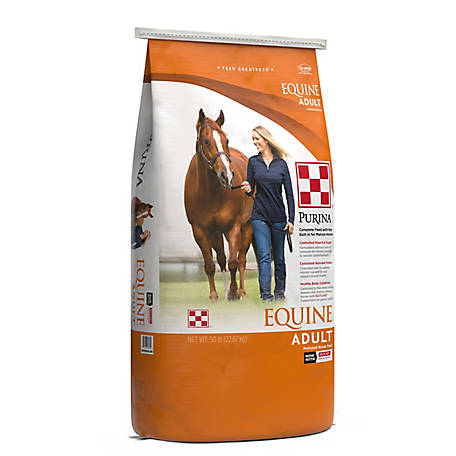 Purina Equine Adult Horse Feed, 50 lb.