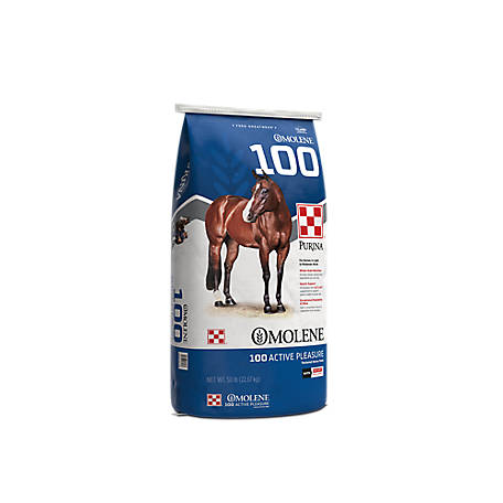 Purina Omolene #100 Active Pleasure Horse Feed, 50 lb.