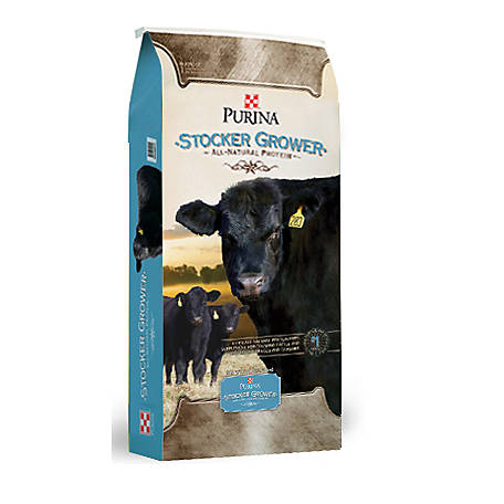 Purina 4-Square Stocker/Grower Pelleted Cattle Feed, 50 lb.