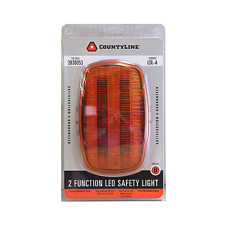 CountyLine 2 Function LED Safety Light, Amber, LSL-A