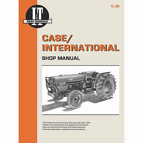 I&T Shop Manuals Case Shop Manual, C39, 104 Pages