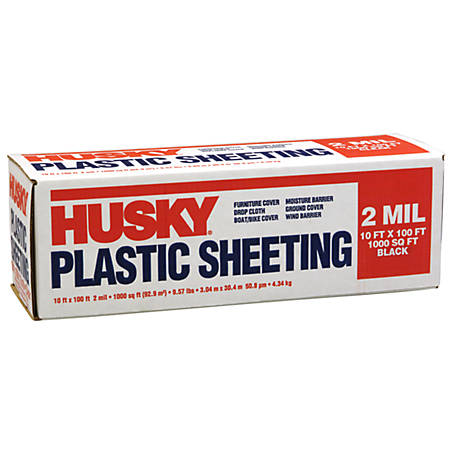 Husky Black Poly Sheeting 2 Mil 10 Ft X 100 Ft At Tractor Supply Co