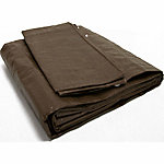Weathermaster Brown Lightweight Poly Tarp, 8 ft. x 10 ft.