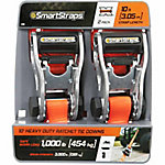 SmartStraps 10 ft. Orange Premium RatchetX Tie Down, 1000 lb., Pack of 2