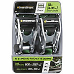 SmartStraps 10 ft. Green Premium RatchetX Tie Down, 500 lb., Pack of 2
