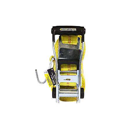 SmartStraps 27 ft. Yellow Ratchet with Flat Hook, 3333 lb.