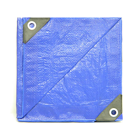 JobSmart Blue Tarp, 8 ft. x 10 ft.