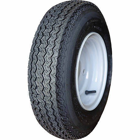HI-RUN Assembly Replacement Tire, ASB1050 4.80-8 4PR & 8X3.75 4-4 WHITE