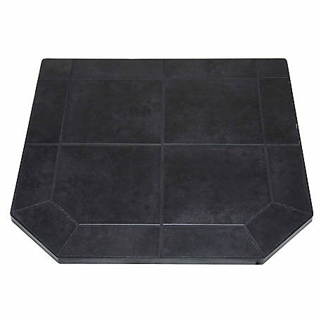 American Classics Type 2 Tile Hearth Pad, 48 in., Black Jack