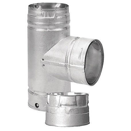 DuraVent PelletVent Tee with Cleanout, 3PVL-TR