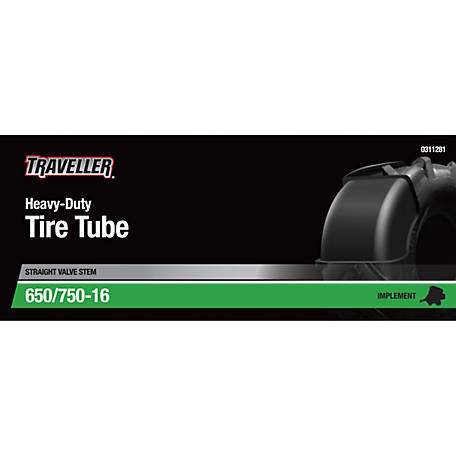 Traveller Implement Inner Tube, 6.50/6.70/7.00/7.50-15/16 with TR-15 Valve Stem