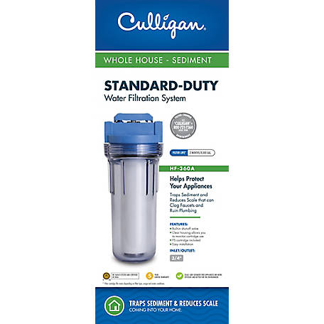 Culligan HF-360A Whole House Valve-in-Head Water Filter System