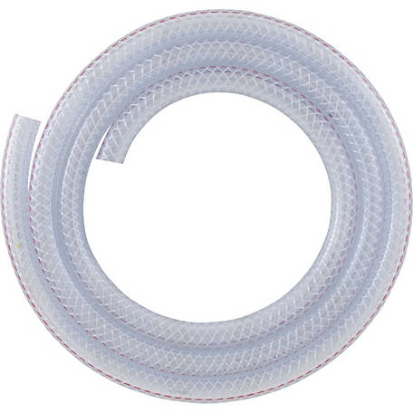LDR Clear Braided Nylon Tubing, 1/2 in. I.D. x 3/4 in. O.D.