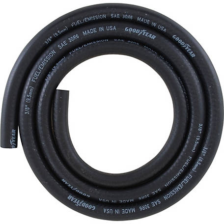"BLACK RUBBER HOSE MADE IN USA 5 FOOT LENGTH FUEL LINE HOSE 3//8/"" ID"