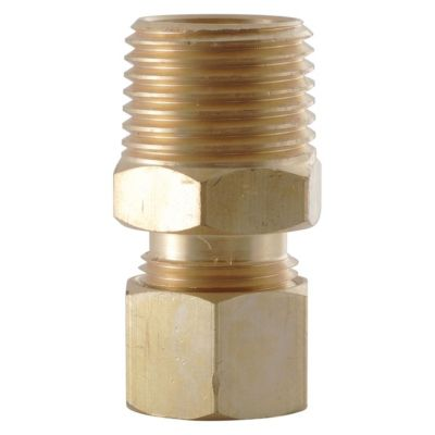LDR 1/4 in. x 1/8 in. M.I.P. Brass Male Adapter