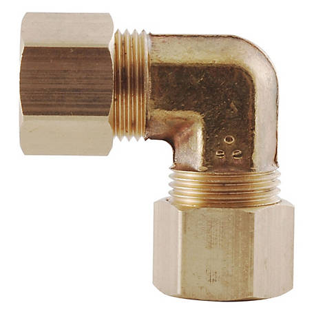 LDR Compression Brass Elbow, 3/8 in.